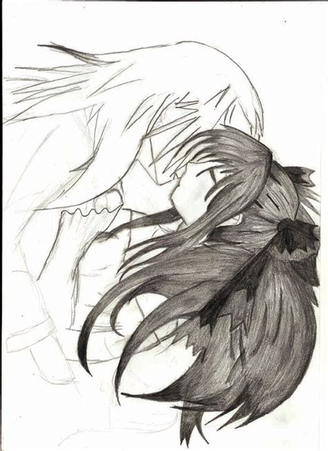 anime couples kissing sketches cute anime couple kissing by sewleigh on deviantart