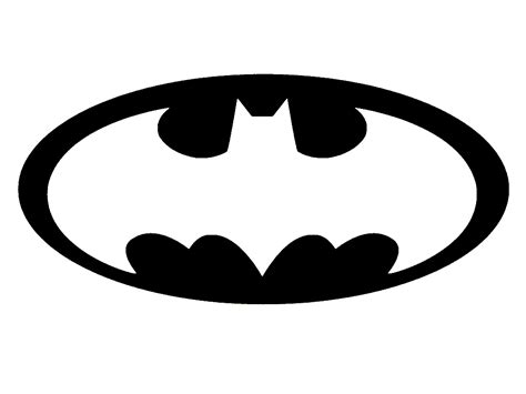 printable pumpkin stencils batman batman logo template clipart best