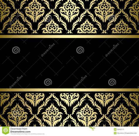 gold pattern card stock black bright card with gold pattern vector stock image