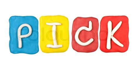 Alphabet Picks colorful plasticine alphabet form word stock photo colourbox