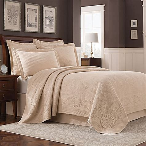 bed bath and beyond williamsburg buy williamsburg abby coverlet in linen from bed bath