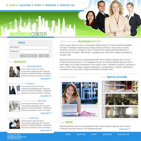 card business dreamweaver templates business center dreamweaver templates