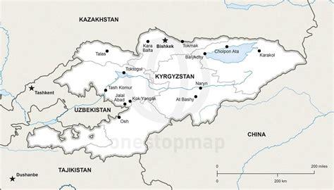 kirgistan map kirgistan karte st 228 dte