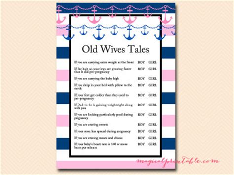old wives tales determining the gender of your baby nautical baby shower games magical printable