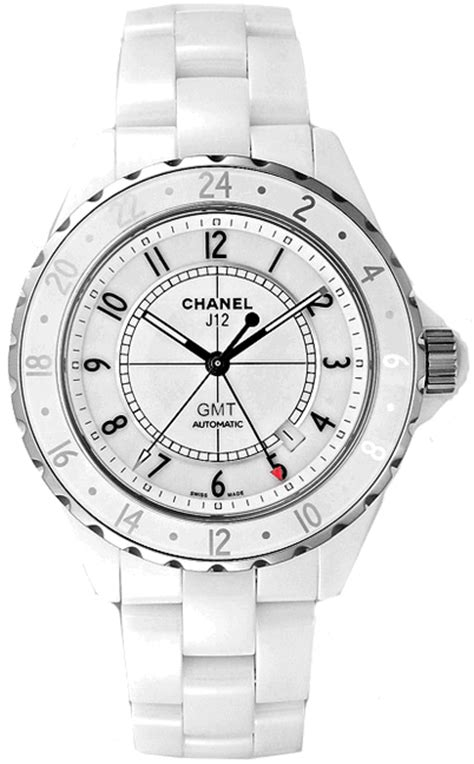 Chanel J12 Silver White Ceramic h2126 chanel white ceramic j12 womens automatic