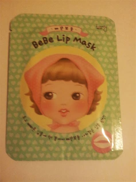 Harga The Shop Bebe Lip Mask snow dusts the shop lovely me ex bebe lip mask review