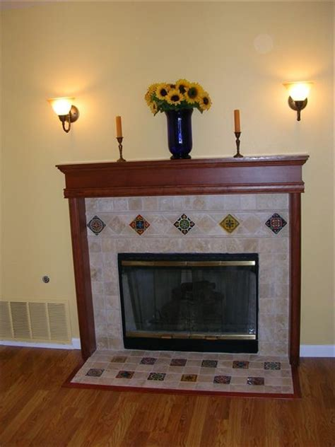 Mexican Chimney Fireplace With Mexican Inspired Accents In San Jose Ca