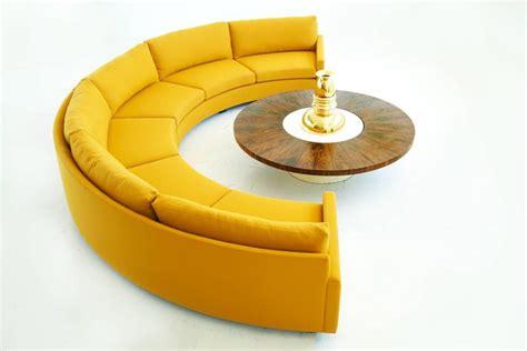 semi circle sofa milo baughman semi circle sectional sofa for sale at 1stdibs
