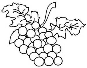 grapes coloring page printable images of fruits to color coloring pages