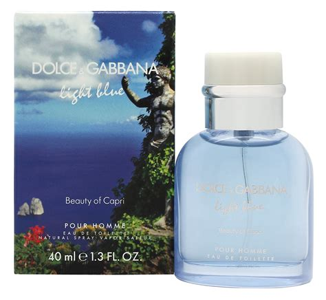 dolce gabbana beauty light blue eau de toilette spray dolce gabbana light blue pour homme beauty of capri eau