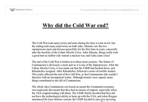 Cold War Essay Introduction by Cold War Essay Interpretive Essay Exles Picture College Essays College Narrative Essay