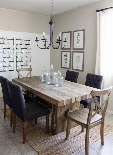 a dining room table best 25 modern farmhouse table ideas on