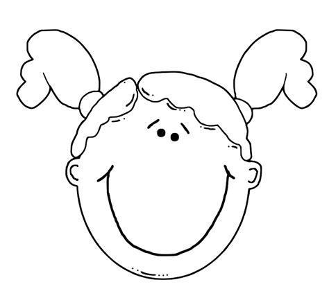 girl face outline clip art cartoon girl face cliparts co