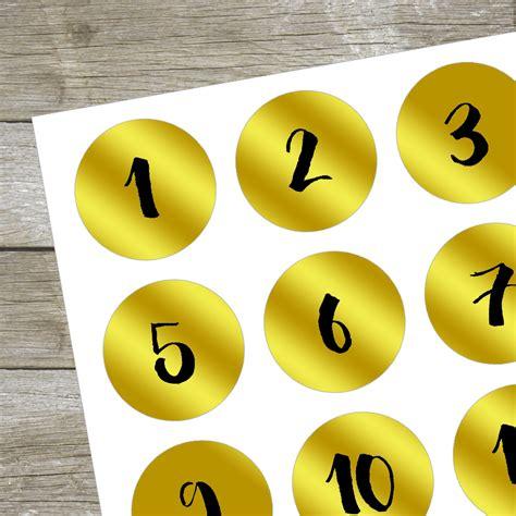 Aufkleber Zahlen Gold by Aufkleber Adventskalender Zahlen Zahlensticker Miomodo
