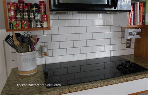 White Subway Tile Backsplash White With Gray Grout Subway Tile Backsplash Rachael Edwards