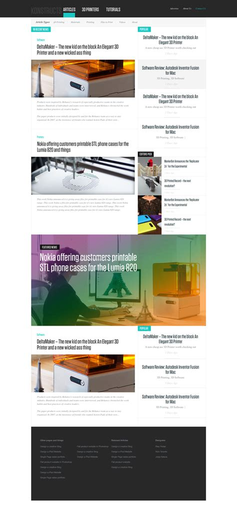 web templates for articles free news or blog psd website