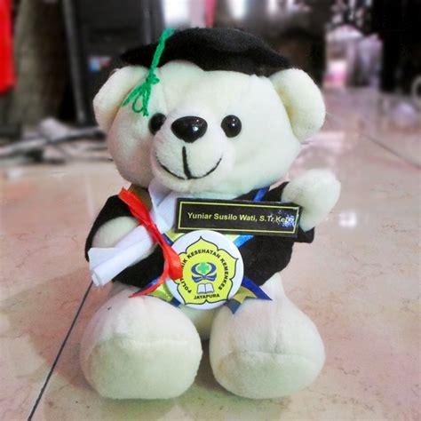 Teddy Kuning Hitam 8199m teddy putih poltekkes kemenkes jayapura kado wisudaku
