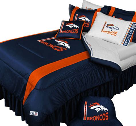nfl denver broncos football queen full bed comforter set