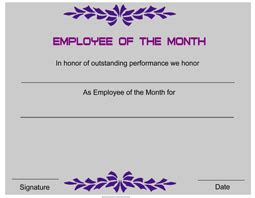 free employee of the month certificate template employee award certificate templates certificatetemplate net