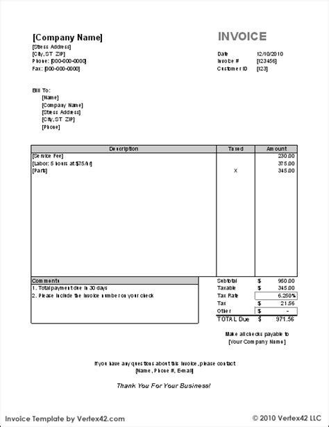 template invoice english free invoice template sle invoice 3 bakery