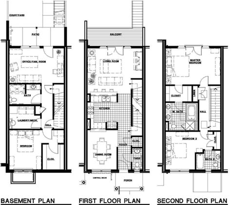 townhome plans contemporary townhouse floor plans studio design