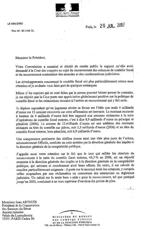 Exemple De Lettre Pour L Administration Fiscale Recouvrement Des Sanctions P 233 Nales Et Fiscales La Fin De
