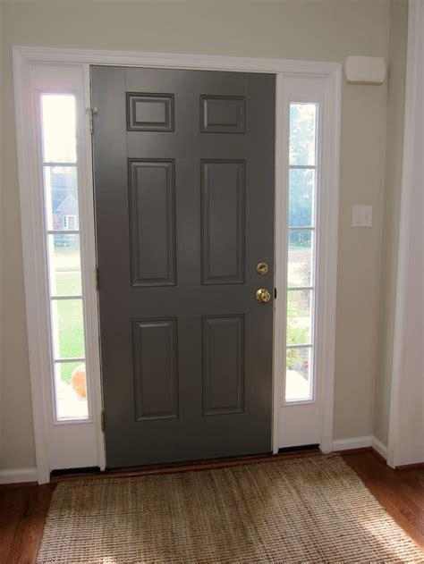 benjamin moore chelsea gray   front door