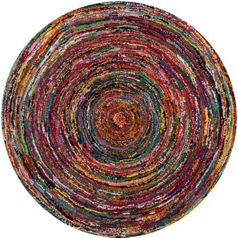 6ft Circular Rugs by Safavieh Nantucket Multi 6 Ft X 6 Ft Area Rug