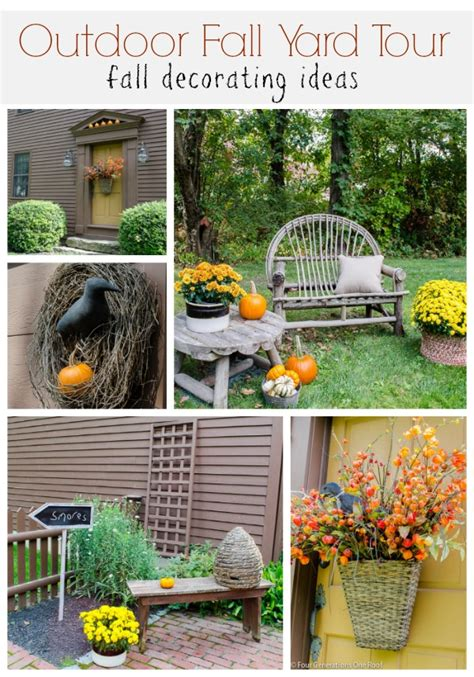 outdoor fall decorating ideas yard outdoor spaces archives four generations one roof