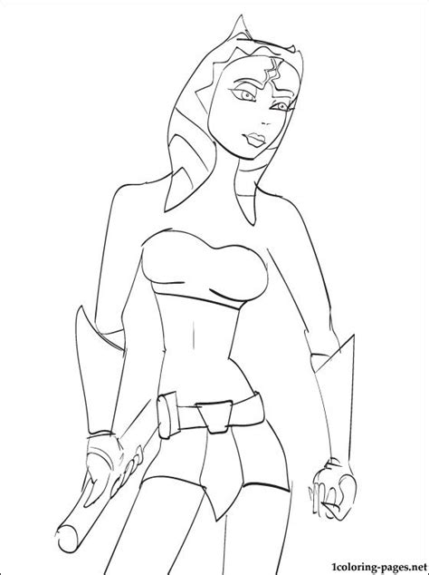 coloring pages ashoka wars ahsoka tano coloring page coloring pages