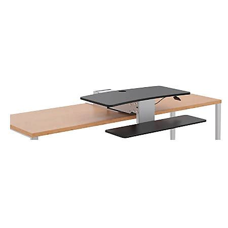 sit to stand desk riser hon sit to stand desk riser 19 x 31 x 32 blacksilver by