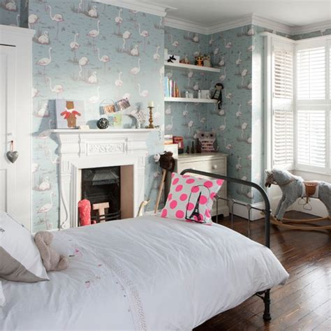 cool wallpaper for home uk flamingo papered girl s bedroom bedroom decorating