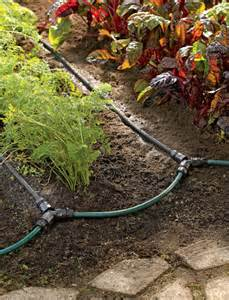 Patio Watering System Soaker Hose Drip Irrigation System For Garden Rows