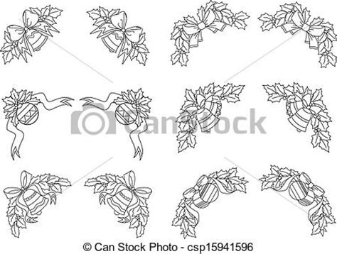 decorations drawings eps vectors of decorations and corners