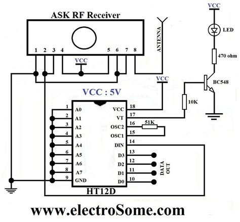 wifi receiver circuit diagram circuit and schematics diagram wireless transmitter and receiver using ask rf module