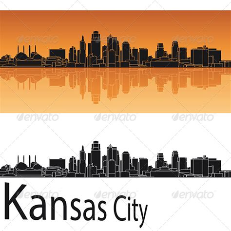 icon design kansas city stock vector graphicriver kansas city skyline in orange