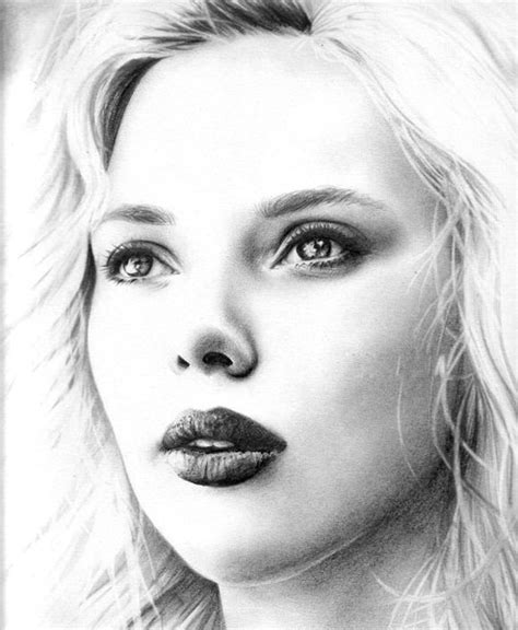 50 Photos Of Scarlet Johansson by 50 Amazing Pencil Portrait Drawings For Inspiration