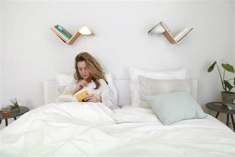 how to read a book in bed the lililite a better way to read in bed core77