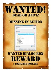 wanted posters template wanted poster template