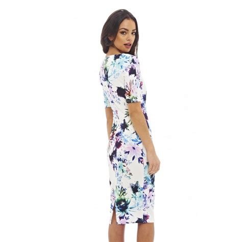 Dress Midi Flower sleeved floral midi dress