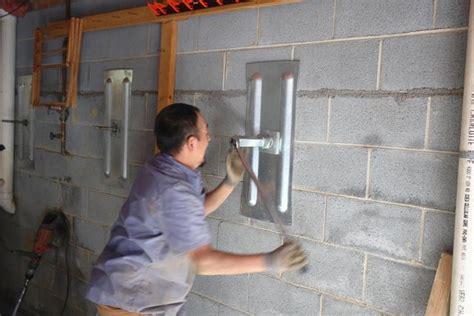 basement wall anchor plates foundation problems in greater greensboro carolina