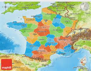 Physical Map Of France by Political 3d Map Of France Physical Outside