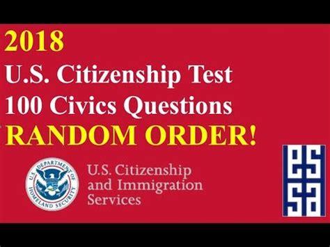 preguntas personales de la n400 random reading all 100 questions for us citizenship nat