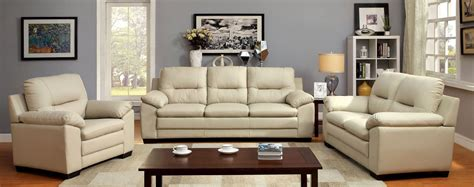ivory living room furniture parma ivory leatherette living room set living room sets