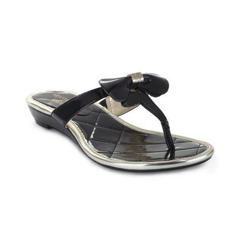 black flat shoes with bow klein adal bow flat sandals in black lyst