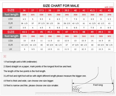mens shoes size chart inches style guru fashion glitz