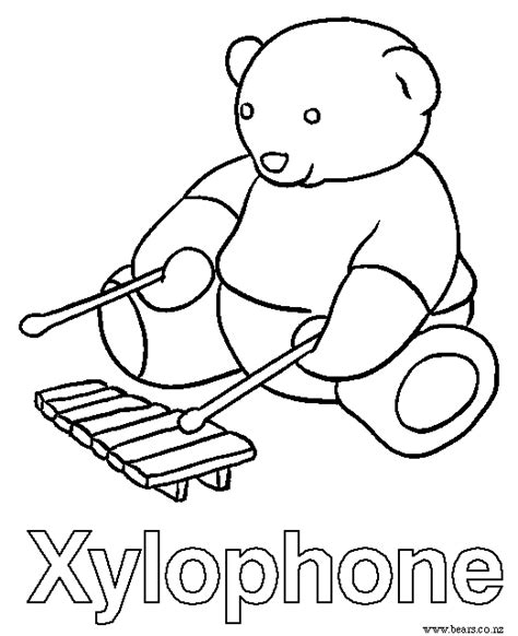 xylophone coloring page coloring pages ideas