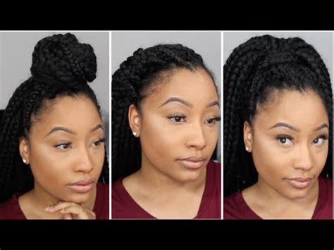 3 Hairstyles For Crochet Box Braids   Jaz Jackson   YouTube