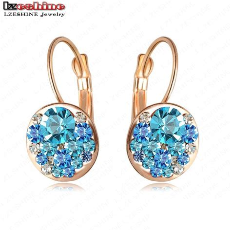 2015 new fashion earrings stud 18k gold plated