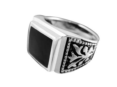 925 Sterling Silver Engraved Ring 925 sterling silver mens black onyx celtic engraved